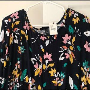 Lane Bryant floral patterned midi dress